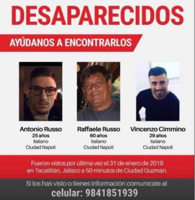 Desaparecen tres italianos en el sur de Jalisco