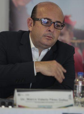 Marco Valerio Pérez pide a cuentahabientes confianza en policía al retirar dinero