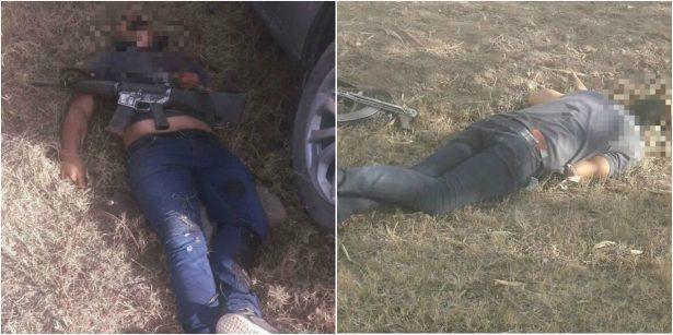 Balacera entre policías y sicarios deja dos agresores muertos