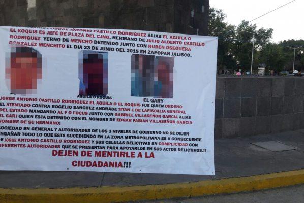 Apareció una lona en Tonalá, como las encontradas ayer
