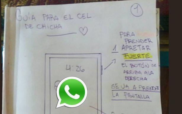 Joven crea tutorial para que su abuelita aprenda a usar WhatsApp