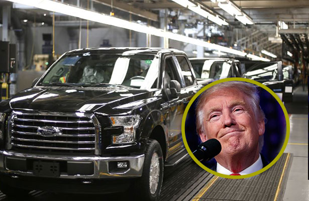 Trump celebra inversión de Ford por mil 200 mdd en Michigan