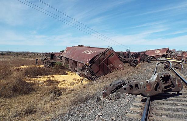 Se descarriló el  tren en Fresnillo