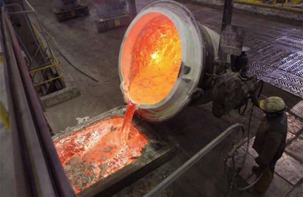 Volumen de producción minerometalúrgica creció 0.4% mensual