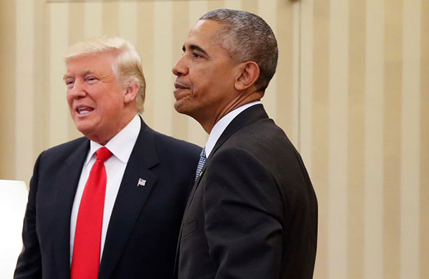 Trump acusa a Obama de estar detrás de las protestas y filtraciones
