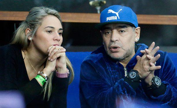 Maradona niega pelea con su novia en hotel de Madrid