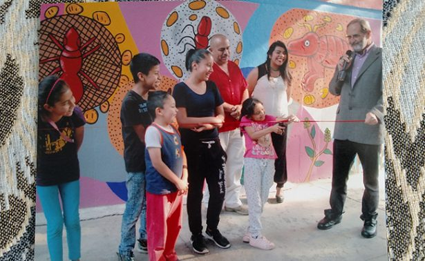 Arte y altruismo en la develación del mural de Pepe Padilla