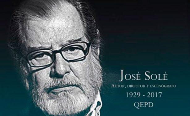 Fallece el maestro José Solé, pilar del teatro en México