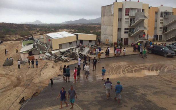Se derrumba una vivienda en Durango