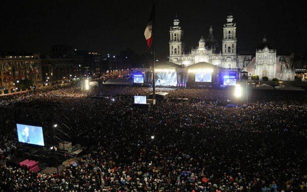 Unión por México convoca a 170 mil personas en el Zócalo
