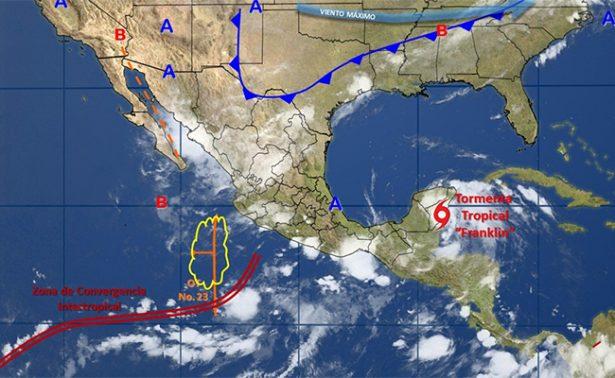 Efectos de Franklin ocasionarán lluvias en Quintana Roo y Yucatán