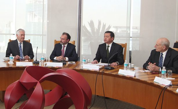 Osorio Chong y Videgaray definirán con Tillerson y Kelly combate al crimen