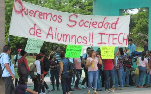 Estudiantes del ITECH en paro permanente; exigen creación de la sociedad de alumnos