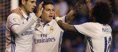 El Real Madrid goleó al Deportivo la Coruña
