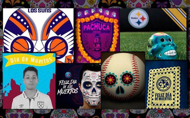 El mundo del deporte no se quedó atrás y así celebró el ¡Día de Muertos!