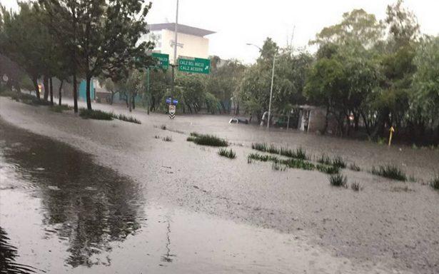 Lluvias colapsan sur de la ciudad: Coapa, Xochimilco y Tlalpan afectadas