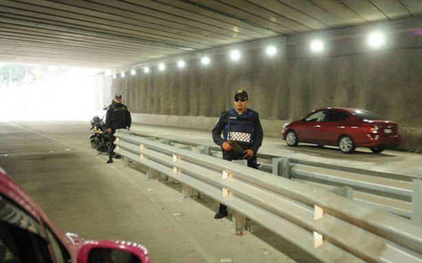Hay Más vigilancia en doble túnel de Mixcoac