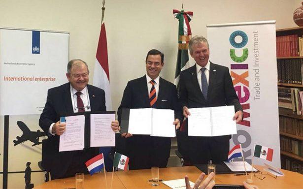 Firman México y Países Bajos convenio de comercio e inversión