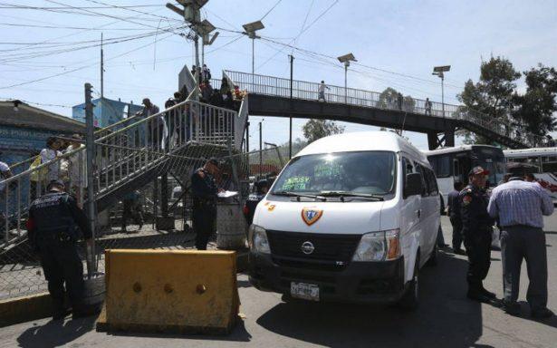 Cae chofer de transporte público en Indios Verdes por acoso sexual