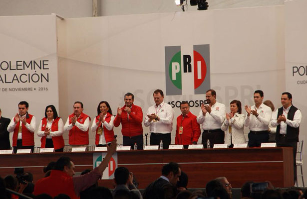 Rinden protesta integrantes del nuevo Consejo Político del PRI