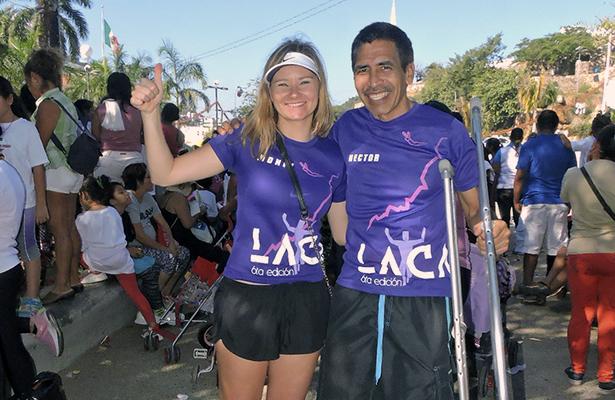 Monika Skwierzynska y Héctor Alejandro Juárez Amador, cinco meses sometidos a terapias de recuperación para volver a las pistas. (Fotos Costanero).