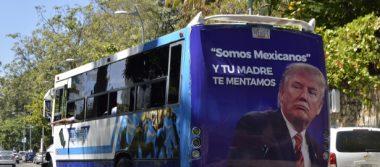 Retiran propaganda en contra de Donald Trump de camiones