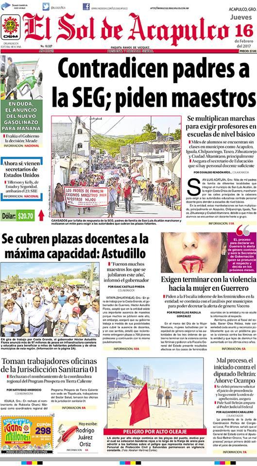 Portada SolDeAcapulco 2017-02-16