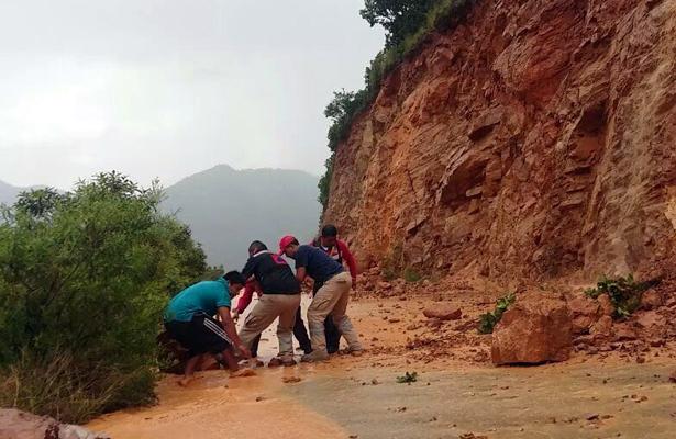 Lluvias provocaron afectaciones en la Montaña y Costa Chica
