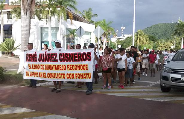 Piden resolver problema entre Ejido de Zihuatanejo y Fonatur