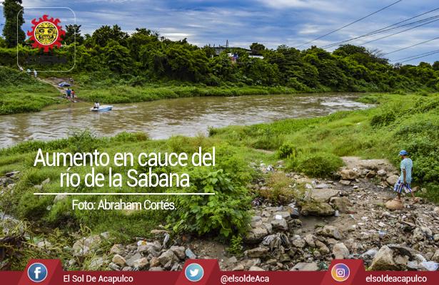 Río de la Sabana aumentó su cauce por las lluvias