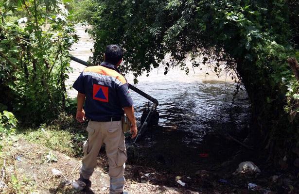 Emiten alerta naranja en comunidad de Cómala por desbordamiento de río Amacuzac