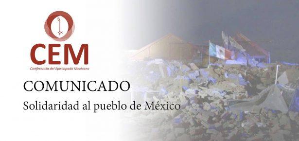 Pide Iglesia solidarizarse con víctimas de terremoto