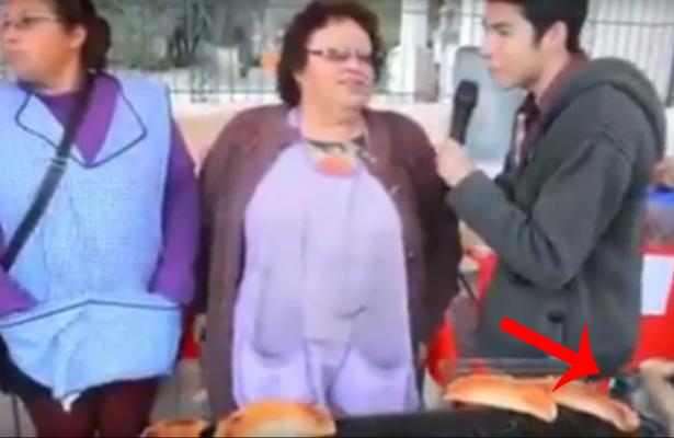 Perro se roba empanada en plena entrevista