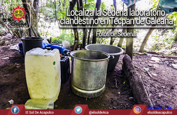 Localiza Sedena laboratorio clandestino en Tecpan de Galeana