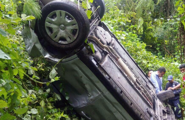 Choque en la carretera Iguala-Teloloapan deja saldo de dos heridos