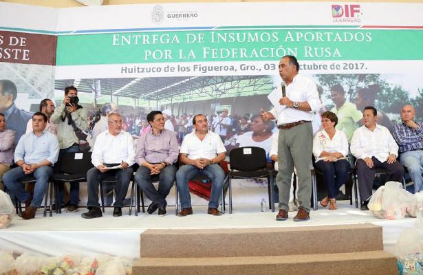Astudillo: Recibirán damnificados de Guerrero apoyo similar al de Oaxaca
