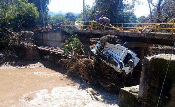 Desborde de río inunda 64 casas en Guayameo