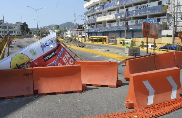 Suspenden obras en la ampliación del puente elevado de la Vía Rápida