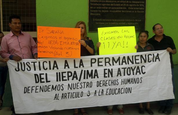 Pierden ciclo escolar alumnos de Ciencias Políticas en Atoyac