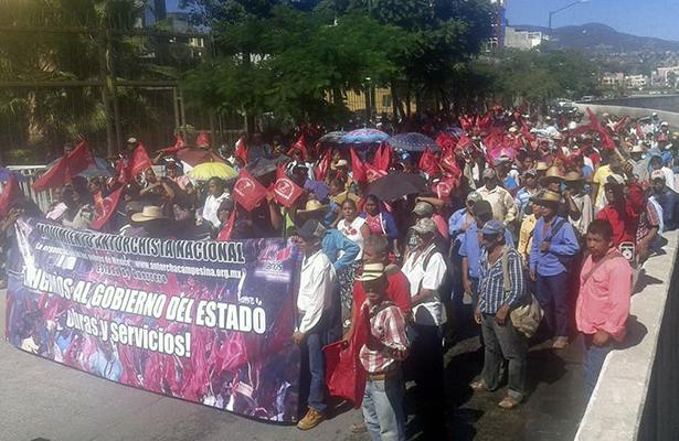 Marcha Antorcha Campesina en Chilpancingo