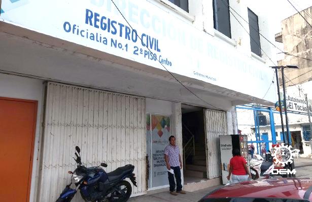 Una semana sin presentarse en oficinas el nuevo director de Registro Civil municipal
