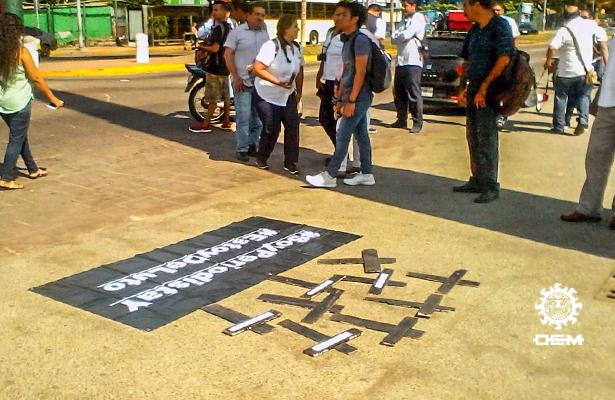 Periodistas de Acapulco protestan por el homicidio de Carlos Domínguez
