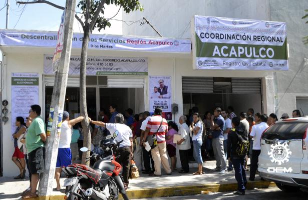 Inauguran ampliación de oficinas regionales de registro civil en Acapulco