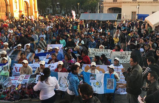 Caravana de madres centroamericanas marcha en Chiapas