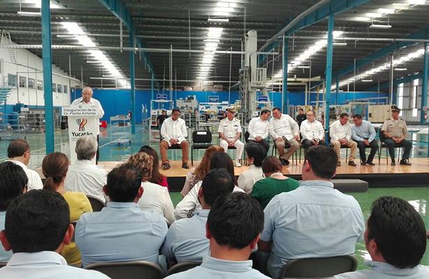 Inicia actividades planta en Yucatán, con 120 empleos y 10 mdd de inversión