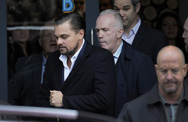 DiCaprio almuerza en comedor para homeless
