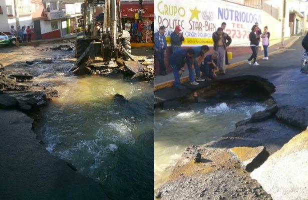 Fuga en el Cutzamala deja sin servicio a 3 municipios del Edomex