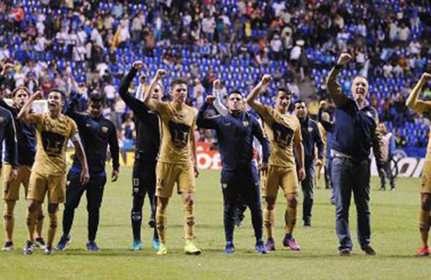 Pumas vence 3-0 a Puebla y completa cuartos del Apertura