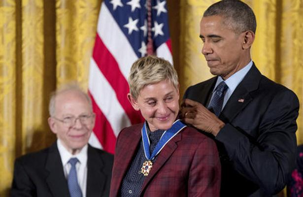 Tu coraje, Ellen, ha hecho cambiar nuestros corazones: Obama