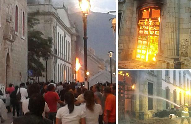 Detienen a 11 participantes tras actos vandálicos en UABJO